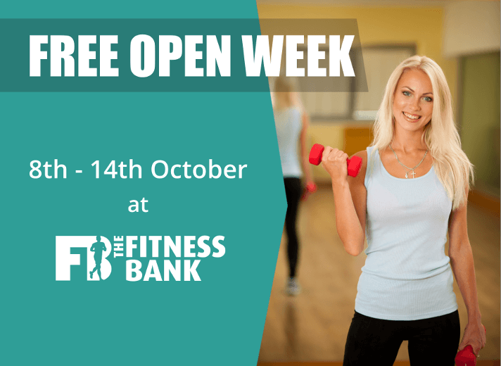 Open Week - Try the Club for FREE - Mon-Sun 8-14th October