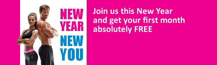 NEW YEAR - NEW YOU - Join us now and get your first month FREE